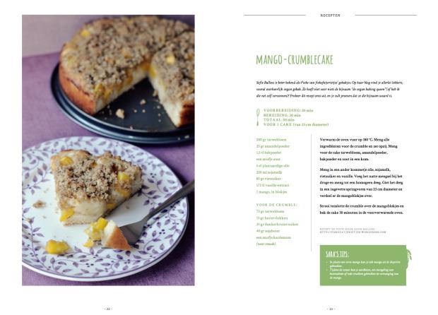 De Groene Keuken Magazine (Mango Crumble Cake)