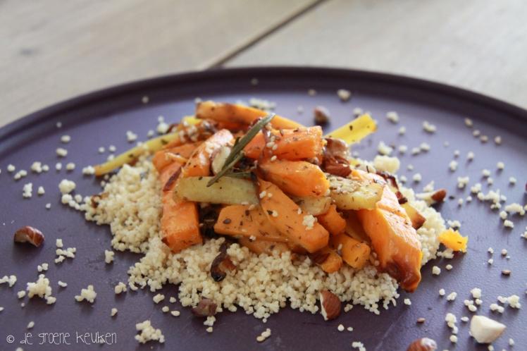 Recept: Zoete aardappel en pastinaak uit de oven   De Groene Keuken