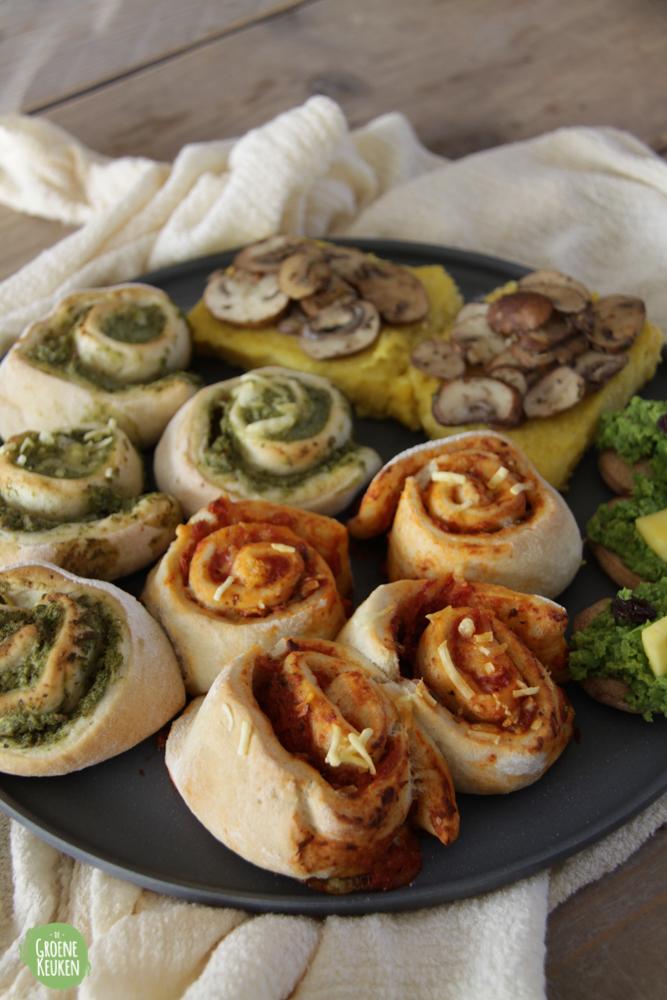 Recept: Pizzarolletjes (uit De Groene Keuken FEEST!)   De Groene Keuken