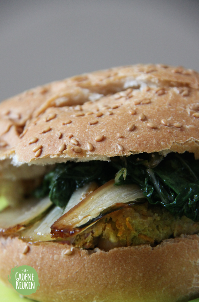 Asian inspired chickpea burger | De Groene Keuken