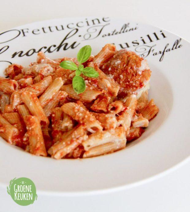 Sopranos inspired baked ziti | De Groene Keuken #vegan #veganmofo #vgnmf15