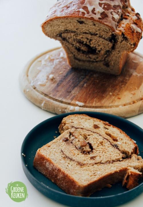 Kaneel-Rozijnenbrood | De Groene Keuken