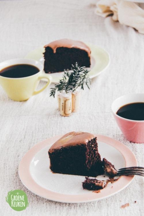 Chocolade Mokkataart | De Groene Keuken #vegan #veganmofo #vgnmf15