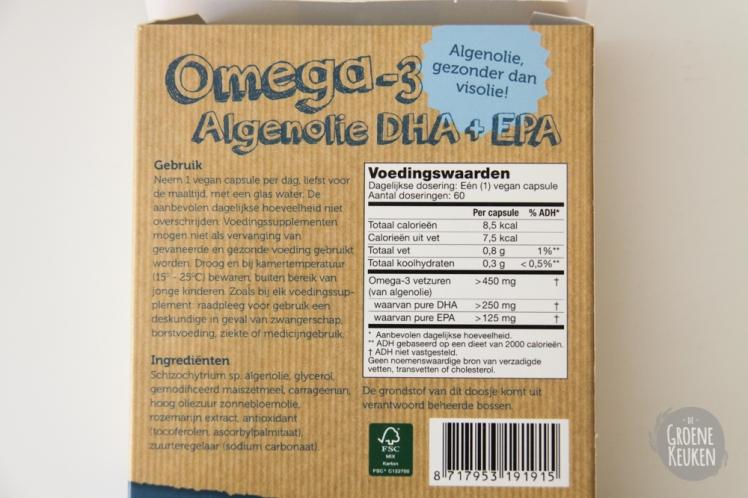 Vegan Omega-3 Algenolie Testa   De Groene Keuken