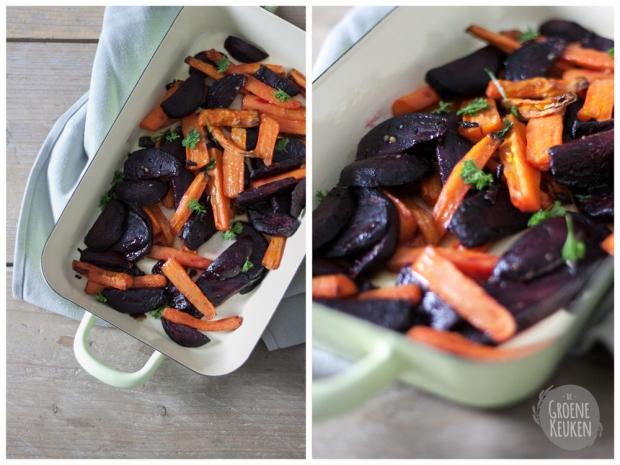 Geroosterde biet en wortel met zoete |De Groene Keuken