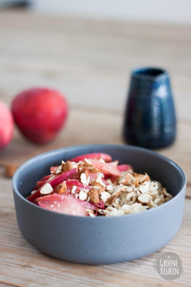 RECEPT : A Peachy Breakfast - Rijstpap met Perzik | De Groene Keuken