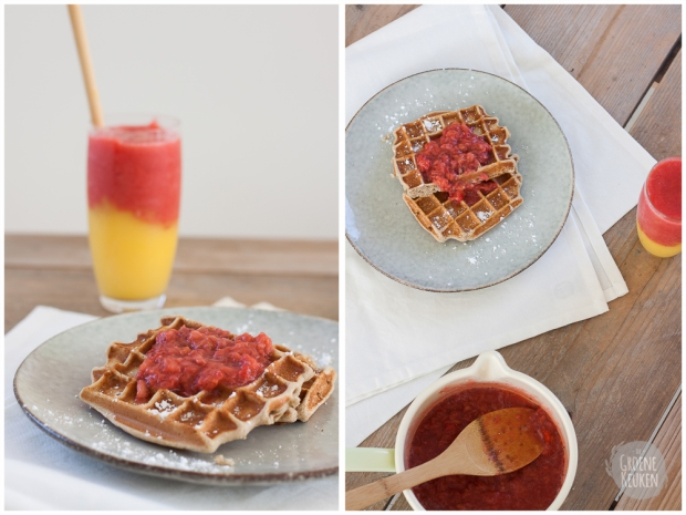 Vegan Peanut Butter Jelly Wafels | De Groene Keuken